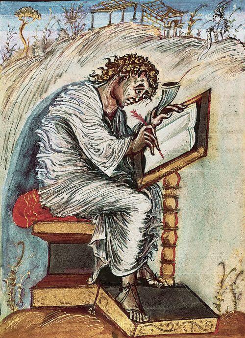 Saint Matthew the Evangelist (Ebbo Gospels)