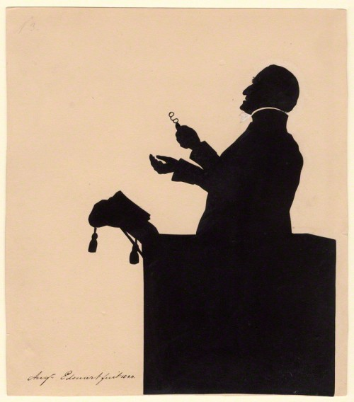 by Augustin Edouart, silhouette, 1828